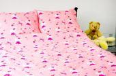 Pościel z kory 160x200 wzór Hello Kitty różowa