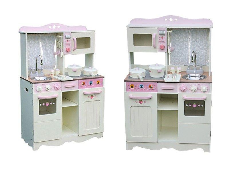 Drewniana Kuchnia Dla Dzieci VINTAGE - Duży Zestaw zdjęcie 1