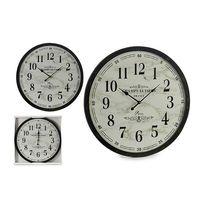 Zegar Ścienny Biały Czarny (3,5 x 60 x 60 cm)