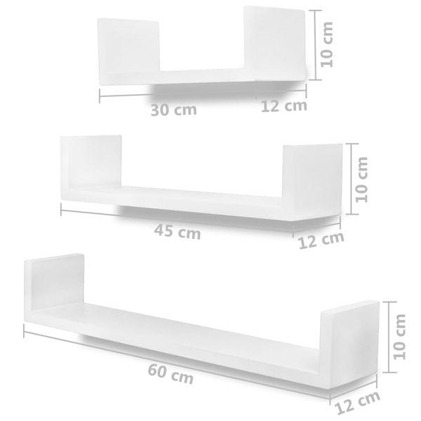 Półki ścienne 6 Szt Białe Gxp 686491