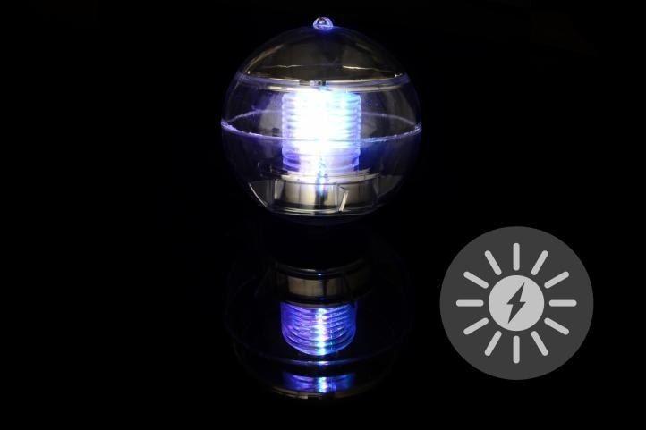Lampa solarna kolorowa LED, lampion ogrodowy w kształcie kuli zdjęcie 5