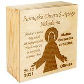 PUDEŁKO prezent na Chrzest Święty GRAWER Upominek zdjęcie 3