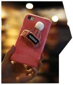 3D SOFT CASE ETUI CZAPKA PLUSZ IPHONE 7 8 CZARNY PREZENT GIFT zdjęcie 2