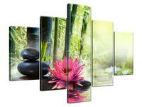 Obraz Drukowany 100x70 Lilie i bambusy  dorobek  unikatowy
