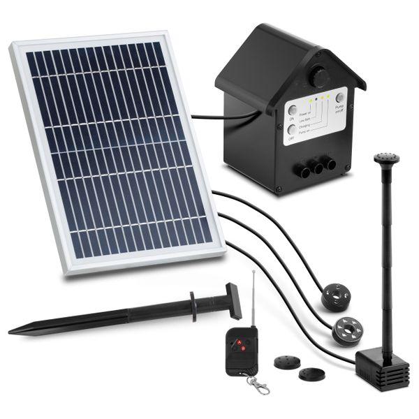 Pompa solarna do oczka wodnego - fontanna - 250 l/h - 0,8 m Uniprodo zdjęcie 1