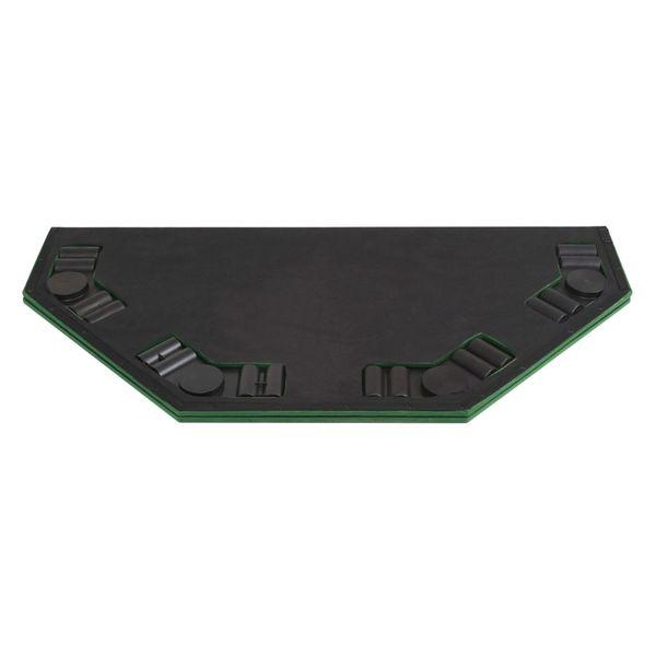 Składany blat do pokera dla 8 graczy, ośmiokątny, zielony zdjęcie 6