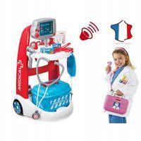 Smoby Elektroniczny Wózek Lekarski dźwięk Stetoskop
