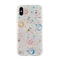 Etui Pattern iPhone X/Xs wzór 6 (owls white)
