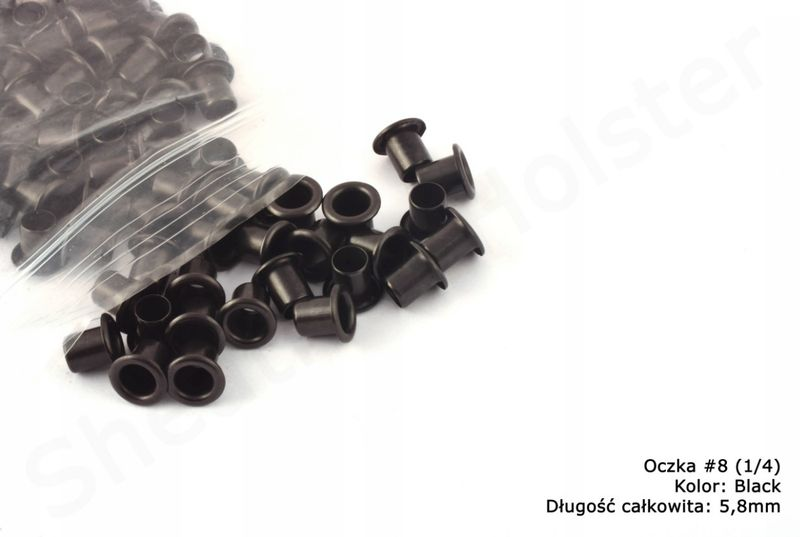 Oczka do Kydexu -BLACK- dł. 5,8mm - 10 sztuk na Arena.pl