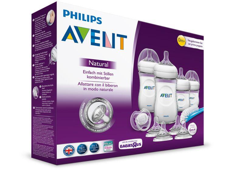 Avent butelka x4 zestaw startowy natural SCD290 HIT+szczotka+smoczek zdjęcie 1