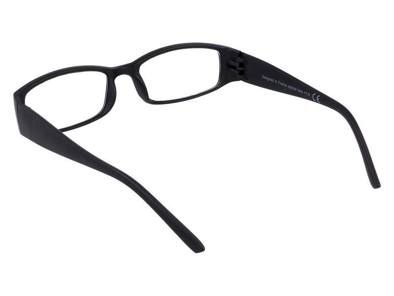 Czarne okulary zastępcze do czytania plusy +1.00 zdjęcie 3
