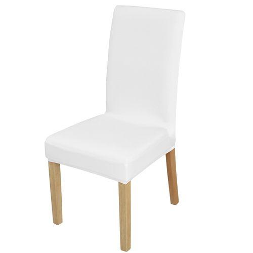 Elastyczny pokrowiec na krzesło spandex, kolor biały na Arena.pl