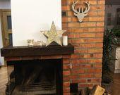 Ozdoba drewniana gwiazda LED 1j 35cm zdjęcie 3