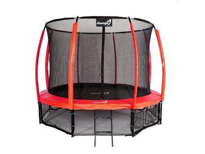 Trampolina Ogrodowa 312cm/10ft czerwona Maxy Comfort PLUS Z Wewnętrzną siatką