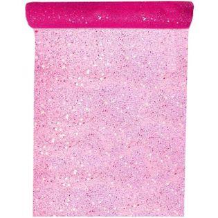 """Bieżnik """"Brokat"""", różowy, SANTEX, 500 x 30 cm"""