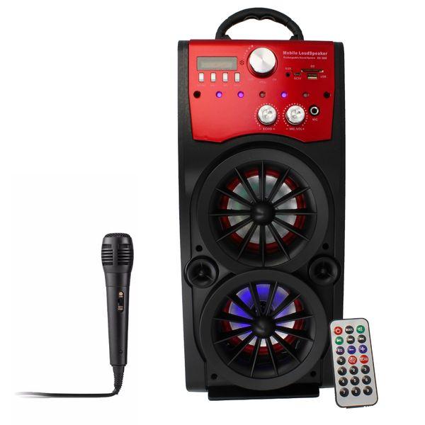 Głośnik Miniwieża Boombox 60W LED Bluetooth + Mikrofon RX-S50 G208Z zdjęcie 2