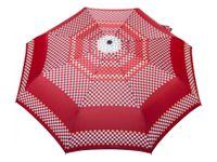 Bardzo mocna automatyczna parasolka damska marki Parasol, szachownica czerwona