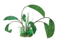 Roślina sztuczna dekoracyjna 30cm zielona na podstawie do akwarium