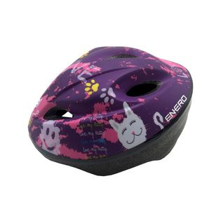 Kask rowerowy dziecięcy regulowany Enero Love Kitty r.M (49-51cm)