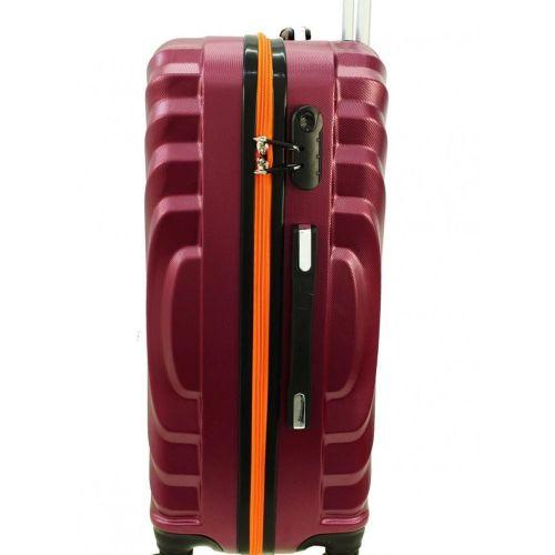 Średnia walizka PELLUCCI RGL 760 M Czarno Czerwona na Arena.pl