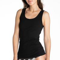 Koszulka damska bez rękawów w prążki z bawełny jersey L-1272VE - S