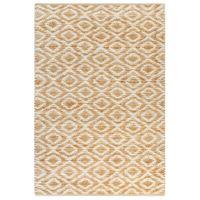 Ręcznie tkany dywan, juta, 120 x 180 cm, naturalny i biały