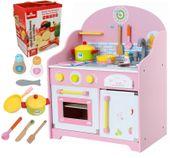 Kuchnia Drewniana Dla Dzieci + Akcesoria +Warzywa i Owoce U45Z
