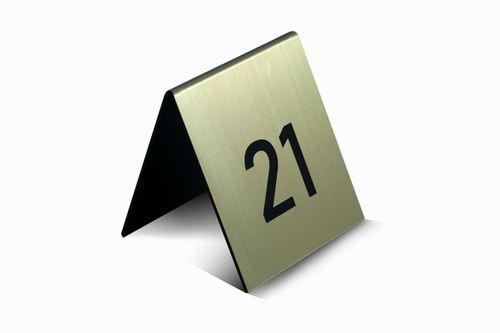 Numer na stół numery na stoły numerki na stolik numeracja z logo na Arena.pl