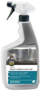 Starnet - Kuchnia 2w1 - Mycie i Nabłyszczanie Stali, 650 ML (4204)