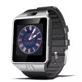 CZARNO SREBRNY zegarek smartwatch DZ09 aparat sim karta pamięci