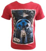 T-Shirt Star Wars Red 4Y r104 Licencja Disney LucasFilm (QE1592)