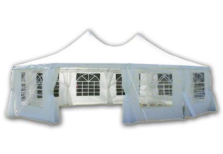 Pawilon handlowy Namiot ogrodowy 8,9 x 6,5 m STALOWY
