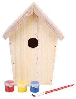Domek dla ptaków do samodzielnego pomalowania