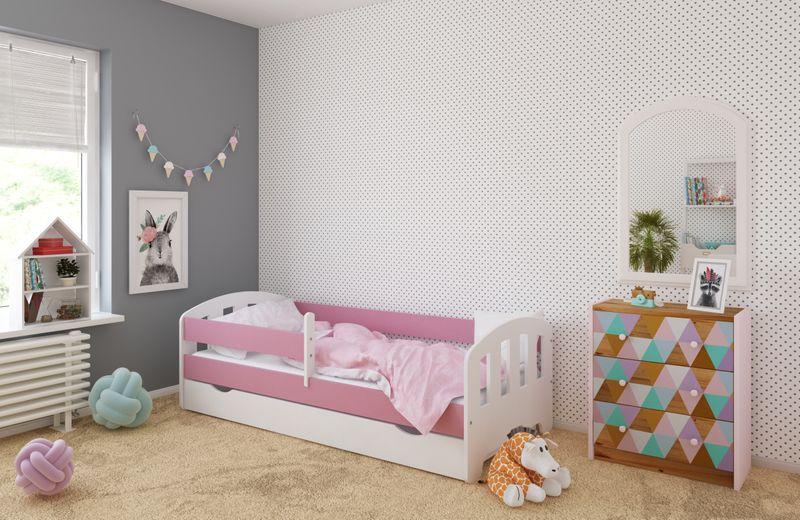 Łóżko FIFI 140x80 + szuflada + barierka zabezpieczająca + MATERAC zdjęcie 3