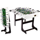 Piłkarzyki stołowe Belfast 121 x 101 x 79 cm - białe M55474