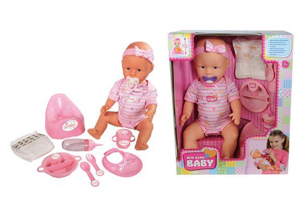 Simba  New Born Baby lalka 43 cm  Bobas z akcesoriami na Arena.pl