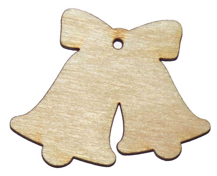 DZWONKI ZAWIESZKA SKLEJKA drewniany dzwoneczek 9X7 zdjęcie 1