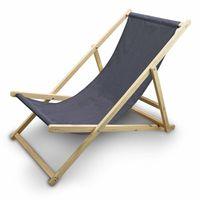 Leżak Plażowy Leżak ogrodowy Kolor Ciemnoszary