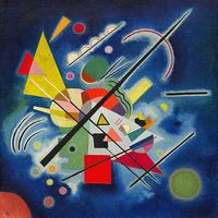 Reprodukcje obrazów Blue Painting - Wassily Kandinsky Rozmiar - 50x50