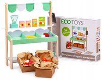 Sklep stragan drewniany +37 dodatków Ecotoys
