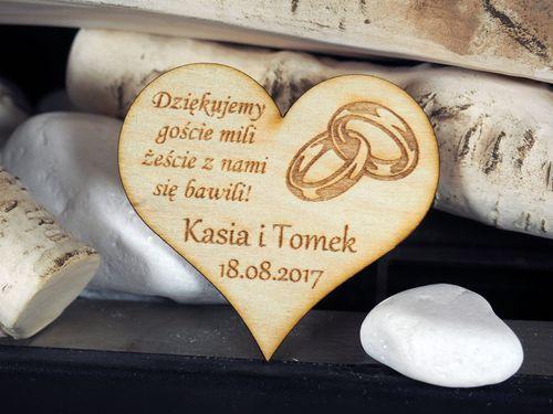 Podziękowanie dla gości ślub chrzest komunia serce na Arena.pl