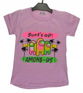 Bluzka dziewczęca Surf's up lila, bawełna roz.110