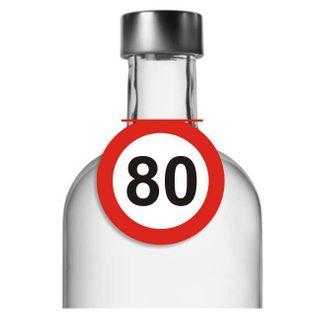 """Zawieszki na alkohol, """"Urodziny 80 Traffic Birthday"""", 10 szt"""