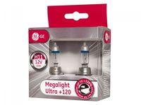 Żarówki halogenowe TUNGSRAM Megalight Ultra +120% H11 12V 55W +120% więcej światła, jasne światło 2 szt