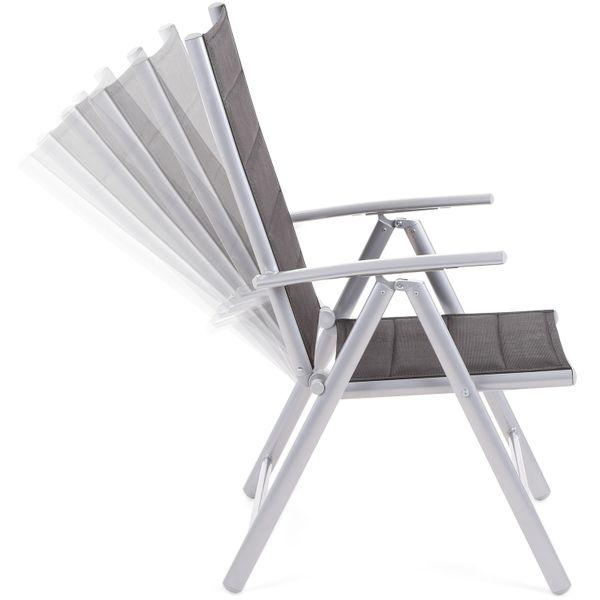 Meble ogrodowe aluminiowe Ibiza Silver / Black 6+1 zdjęcie 6