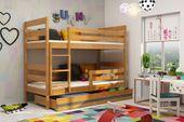 Łóżko piętrowe Eryk 200x90 dla dzieci drewniane meble dziecięce zdjęcie 2