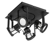 Lampa plafon TECHNIK BLACK 22x22cm GU10 czarny metal fra