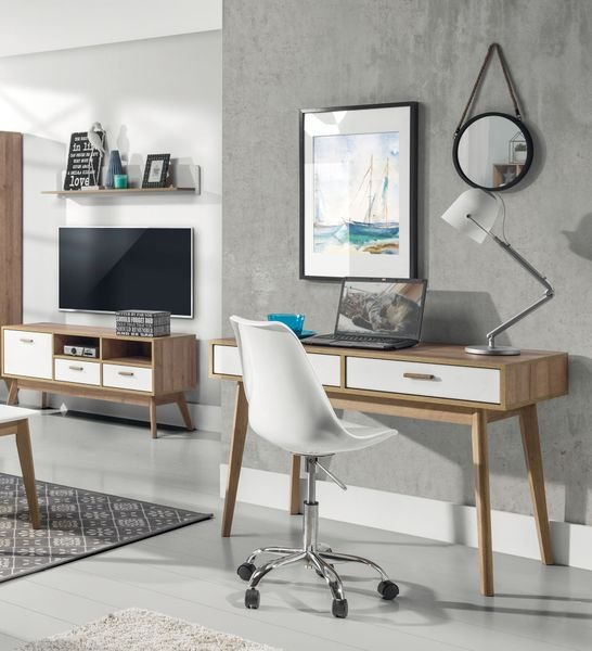 Skandynawskie biurko z szufladami Nordic zdjęcie 2