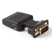 ADAPTER KONWERTER VGA D-SUB + DŹWIĘK AUDIO DO HDMI  FULL HD 1080p