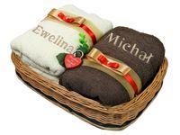 Prezent na Ślub Rocznicę + HAFT 70x140 Ręczniki